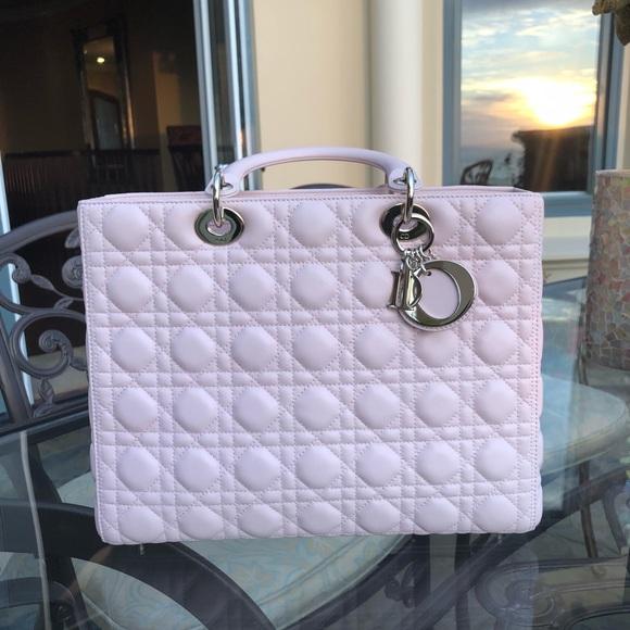 Lady Dior Rose Poudre handbag 3d6f294c15155